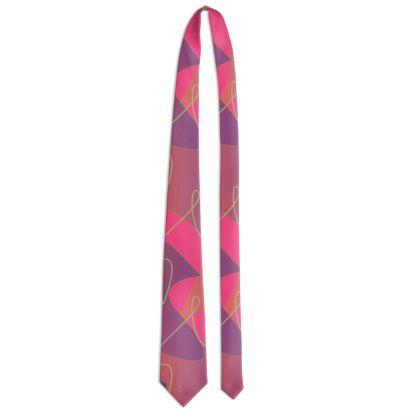 Tessellating Lines - Tie (Pink & Purple)