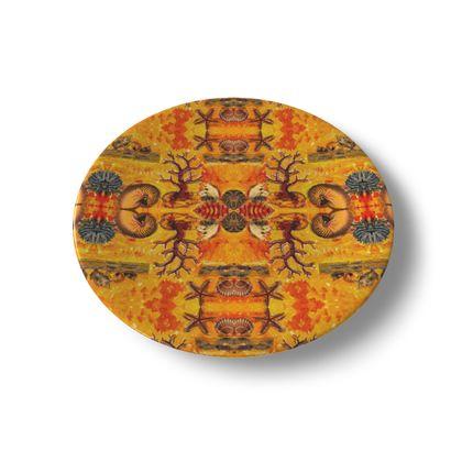 DESIGNER Keramik Teller BRITISH LYME REGIS, china plate im bezaubernden ninibing34 DESIGNTeller, China plate 20 cm