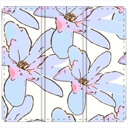 Magnolia Collection - Folding Screen (Pale Pink and Blue)