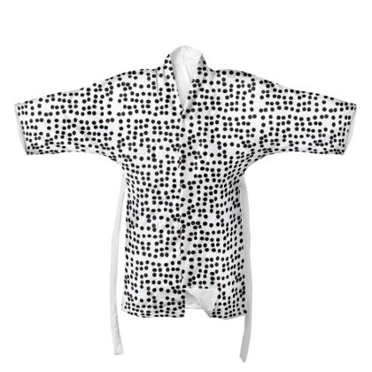 Spot On Kimono in Black and White