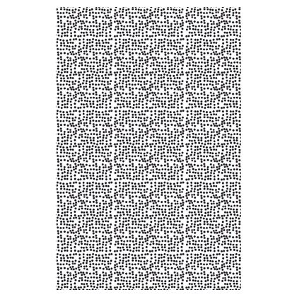 Spot On Long Slip Dress in Black and White