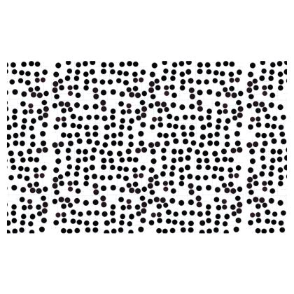 Spot On Zip Top Handbag in Black and White