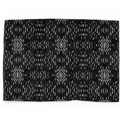 Black Illusion Tea Towels