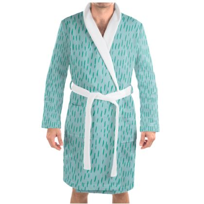 Raining Opportunities Dressing Gown in Blue