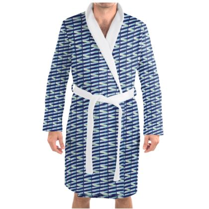 Zig My Zag Dressing Gown in Blue