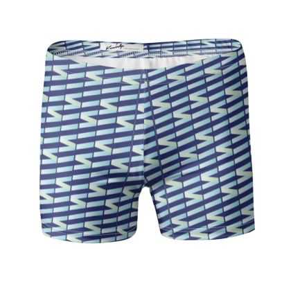 Zig My Zag Swimming Trunks in Blue