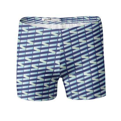 Zig My Zag Swimming Trunks in Blue