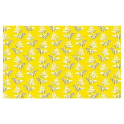 Forest Fern Zip Top Handbag in Bright Yellow