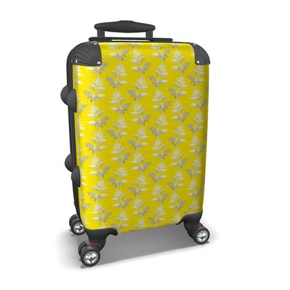 Forest Fern Suitcase in Bright Yellow