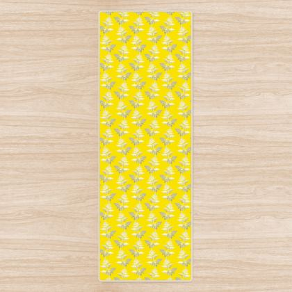 Forest Fern Yoga Mat in Bright Yellow