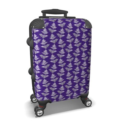 Forest Fern Suitcase in Violet