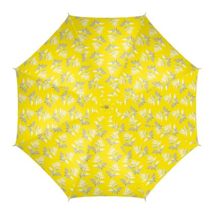 Forest Fern Umbrella in Bright Yellow