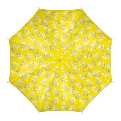 Forest Fern Umbrella in Bright Yellow