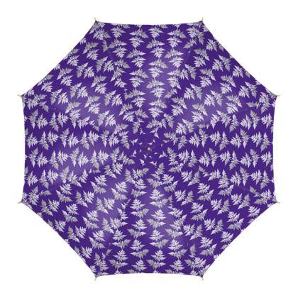 Forest Fern Umbrella in Violet