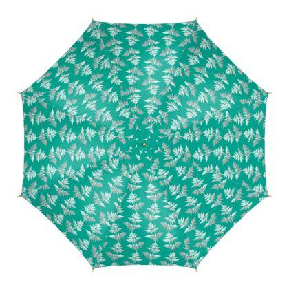 Forest Fern Umbrella in Jade Green