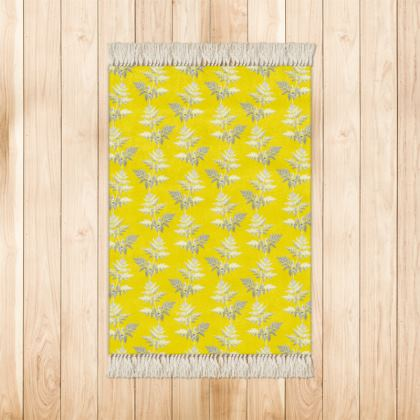 Forest Fern Rugs in Bright Yellow