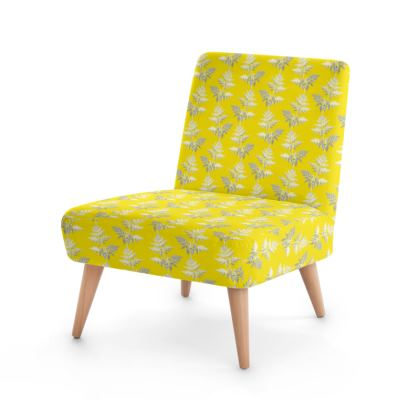 Forest Fern Occasional Chair in Bright Yellow