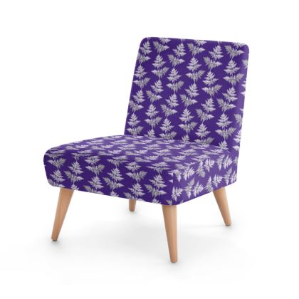 Forest Fern Occasional Chair in Violet