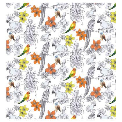 """Parrots and Flowers"" Kimono Jacket"