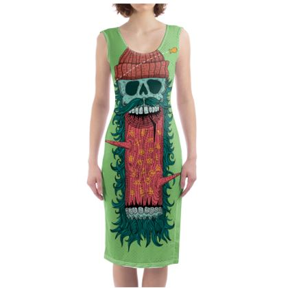 'Lumber' Illustrated Bodycon Dress