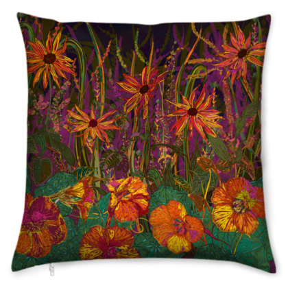 Autumn Flowers Cushion