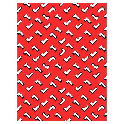 Cartoon Kid Umbrellas in Tomato Red