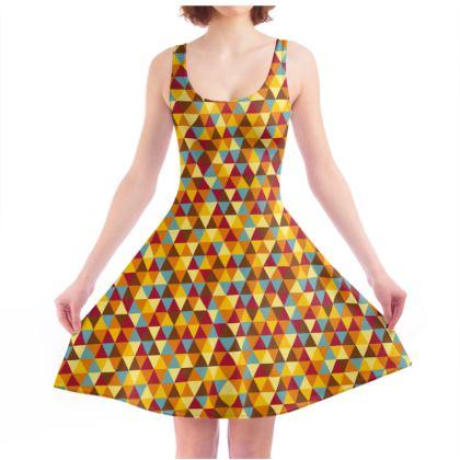 Skater Dress - retro pattern