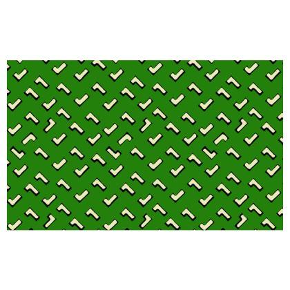 Cartoon Kid Zip Top Handbag in Grass Green
