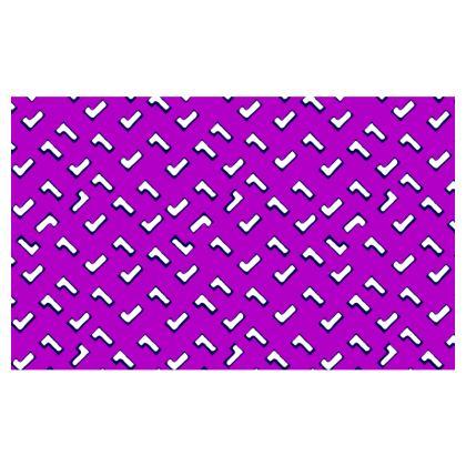 Cartoon Kid Zip Top Handbag in Purple