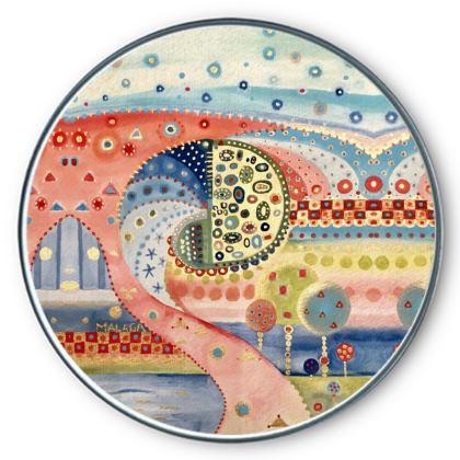 MUELLE UNO Round Tin by Rachel Rosa ART