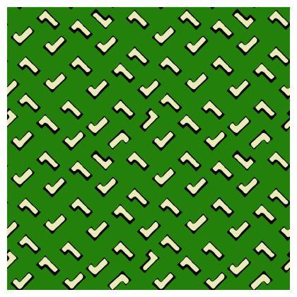 Cartoon Kid Cushions in Grass Green