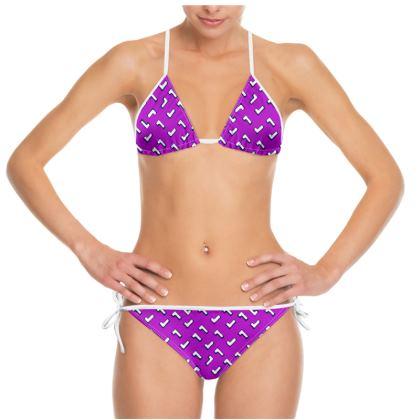 Cartoon Kid Bikini in Purple