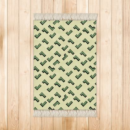Cartoon Kid Rugs in Army Camouflage