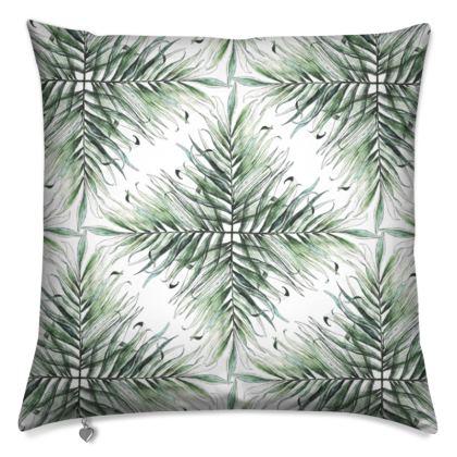 Tropical Palm Fan Cushion