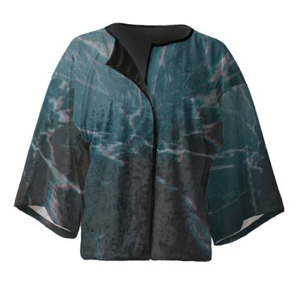 """Kimono Jacket """"Marbled Ice"""""""