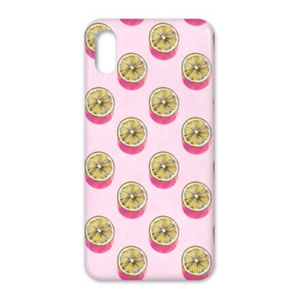 Lemon Polka Dot iPhone X Case