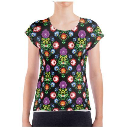 Ladies T Shirt - folk motif