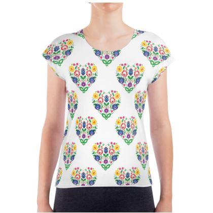 Ladies T Shirt - folk heatrs