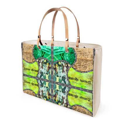349,- Handtasche LA SWISSE handbag Designer Leder Ladies Shopper Bag ninibing34