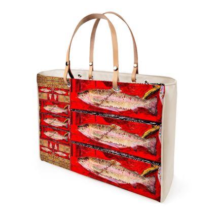 349,- ninibing34 FISHES Handtasche, Shopper Designer Bag