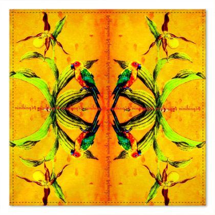 87,- 2 Stück ORCHID YELLOW Einstecktuch #ninibing34