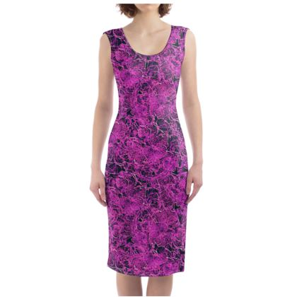 Dark pink flower Dress
