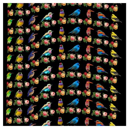 All the Birds and Roses Double Deckchair