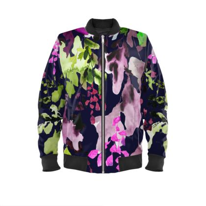 Water Leaf Bomber Jacket