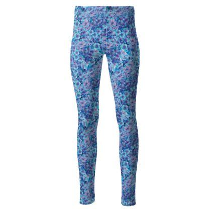 High waisted vivid blue leggings