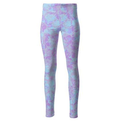 High waisted pastel leggings