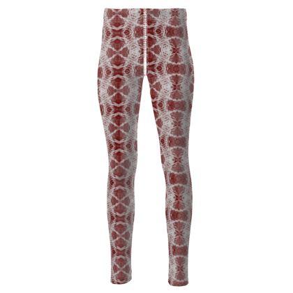 Red Gaudi leggings
