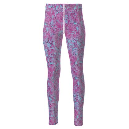 Outlined Floral leggings