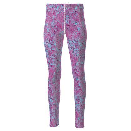 Outlined Floral leggings
