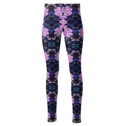 High waisted pink drop leggings